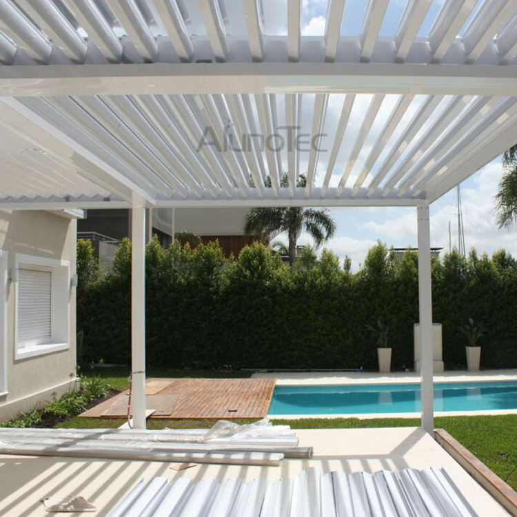 aluminum outdoor pergola covers attached to house with side blinds buy pergola covers pergola. Black Bedroom Furniture Sets. Home Design Ideas