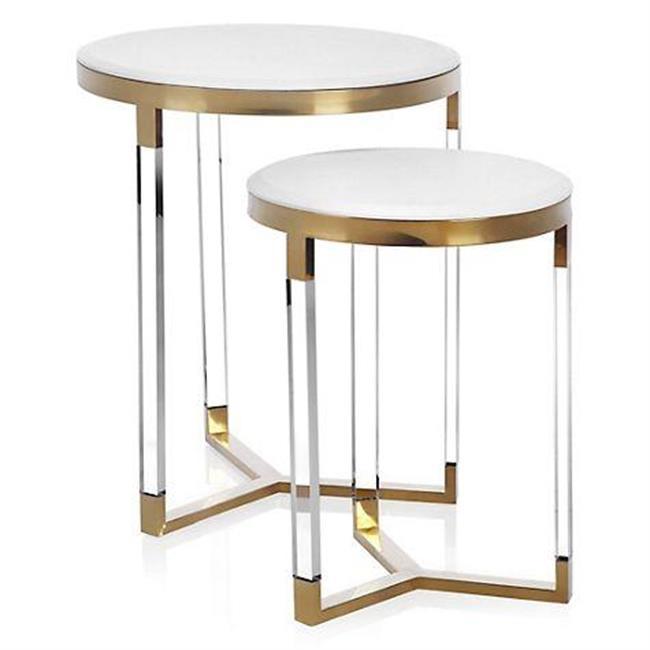 Small Mirrored Coffee Table Electroplated Titanium Decorative Side Table Set Buy Acrylic Furniture Acrylic Table Mirrored Coffee Table Product On Dongguan Jingfumei Acrylic Products Co Ltd