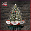(18030U075-RS) Indoor Christmas Tree Top Star Colorful Ornaments Decoration