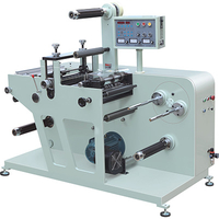 rotaty label die cutting machine with slitting