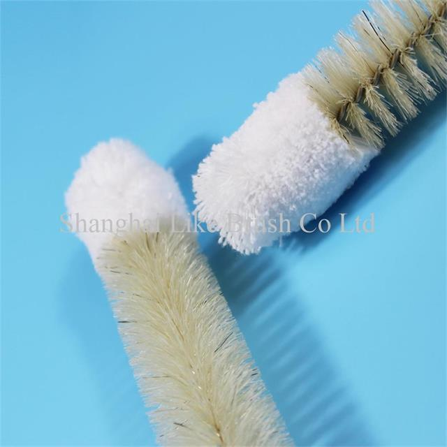 Medical Tube Cleaning Brushes Bristle And Cotton Head