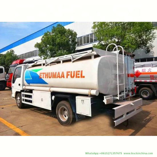 Isuzu Fuel Oil Bowser Tanker (Carbon Steel Stainless Steel Gasoline Tank Truck with Flow Meter 1000 Gallon)