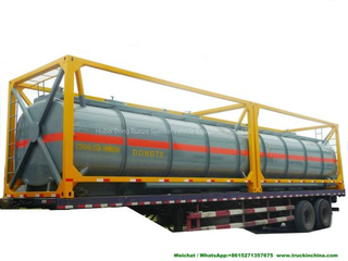 40FT Chemical Tank Container for Road Transport (Dongte 35 -40Ton Bleach Tanks, NaOCL Tanks, Javel Water, HCl Tank Steel Lined LDPE)