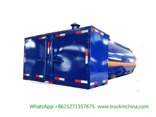 Mobile Bitumen Truck Tanker Upper Body (9m3 Hot Asphalt Tank Insulation 80mm RockWool, Wraped Stainless Steel With Baltur Diesel Oil Burner Generator)