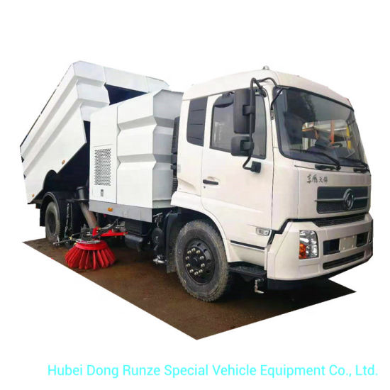 King Run Efficent Street Vacuum Road Sweeper 7 Cbm Garbage 9 Cbm Water Stainless Steel 4X2 -4X4 -Rhd. LHD