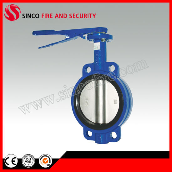 Cast Iron Gear Wafer Butterfly Valve for Fire Fighting