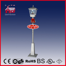 (LV180W-SS) Rainproof Christmas Snowing Vertical Streetlamp with Falling Snow