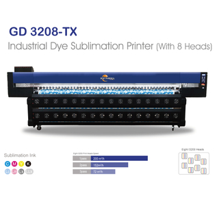"GD3208-TX 128"" Sublimation Printing Machine with Eight Epson I3200 Print Head"