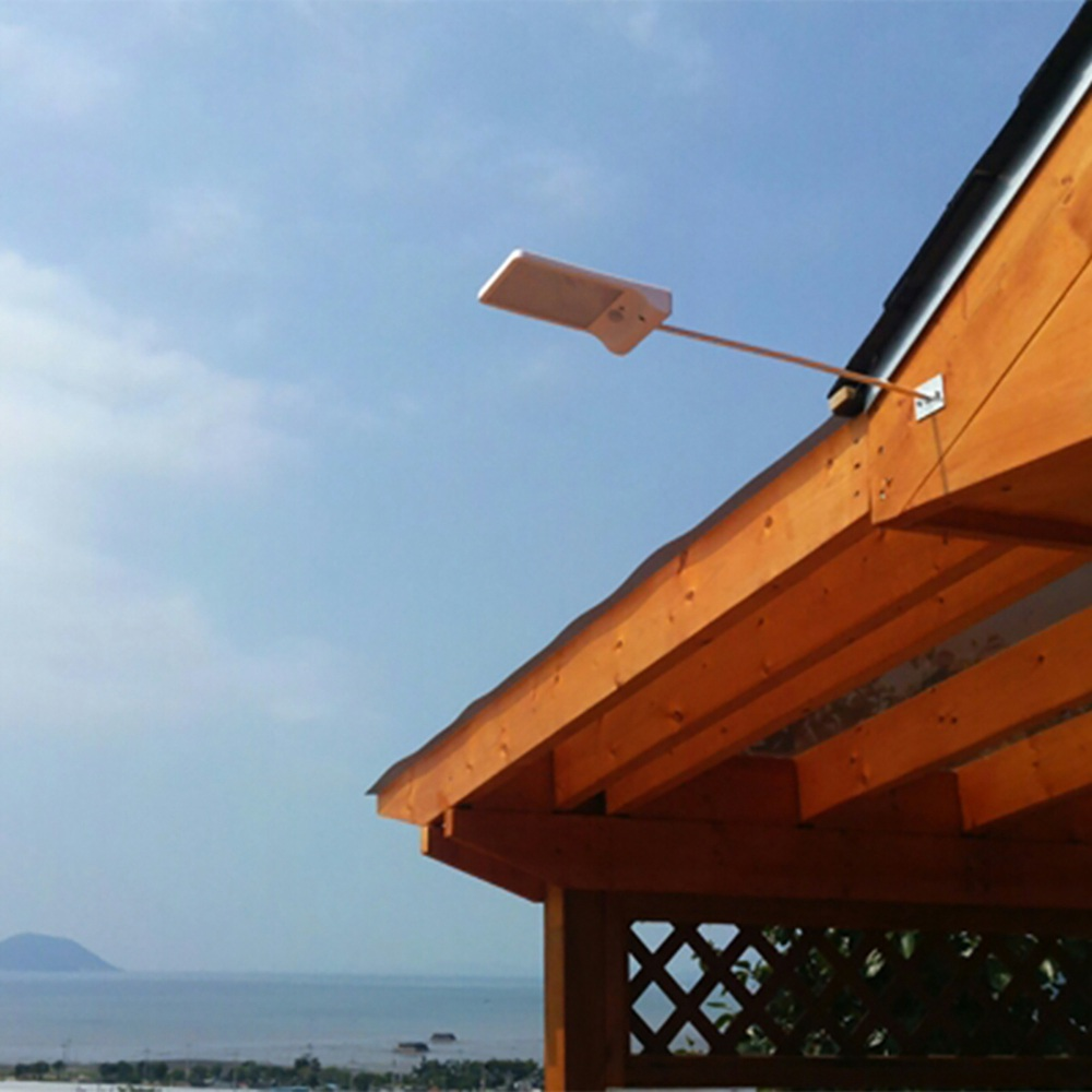 Waterproof Solar Powered LED Garden Lamp Flat Panel Ultra Thin Motion Sensor 36 LED Wall Mounted Lamp with Extension Rod