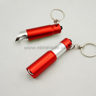 Mini LED Keychain with Bottle Opener