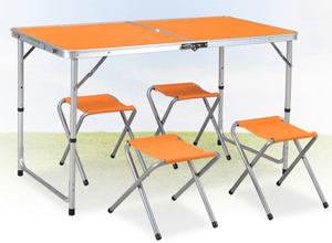 Portable Folding Table Chair Set