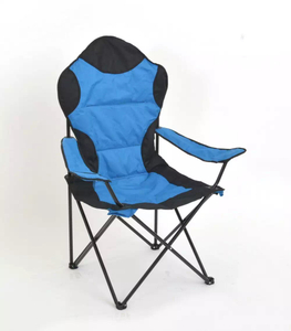 Folding Sturdy Steel Frame Chair with Cup holder