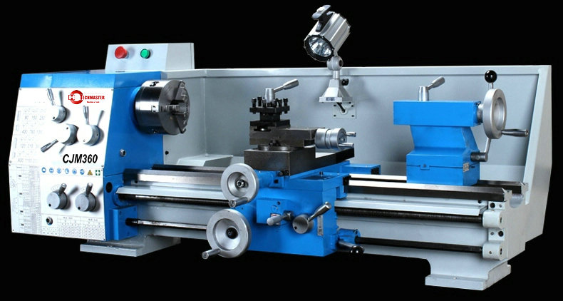 40.5MM SPINDLE GEARED LATHE CJM360/750MM