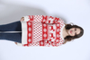 Custom ladies kids ugly christmas sweater led knit