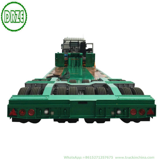 Customization Extendable Lowbed Trailer Multi Functional Gooseneck Hydraulic Combined