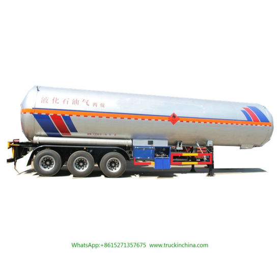 3 Axle Tank Semi Trailer for LPG/Propane /Dme/ Isobutane 59050liters