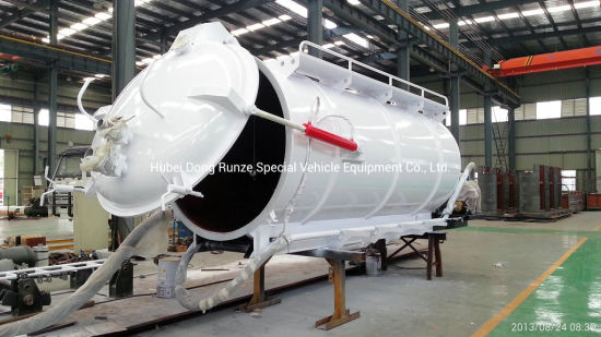 Emptying Slurry Tanks Body Upper Kit SKD for Customer Built Suction Cesspool Sludge Sewer Waste Vacuum Suction Truck 3, 000L -20, 000L