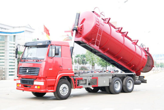 Carbon Steel Lined Stainless Steel Sludge Tank Tipper Truck for Sale