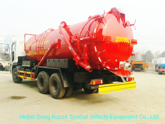 Septic Tank Truck Mounted with High Pressure Vacuum Pump 10 Wheels 18, 000 Liters-20, 000liters Rhd or LHD 6X4 /6X6