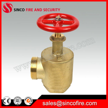 "1.5""/2.5"" Fire Hose Angle Valve as a Fire Department Outlet Connection"
