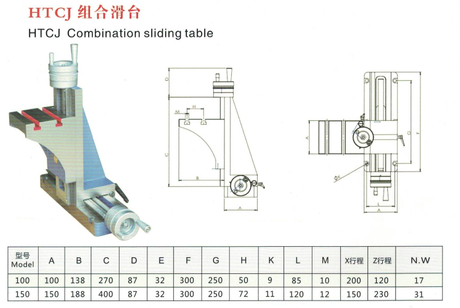 HTCJ COMBINATION SLIDING TABLE