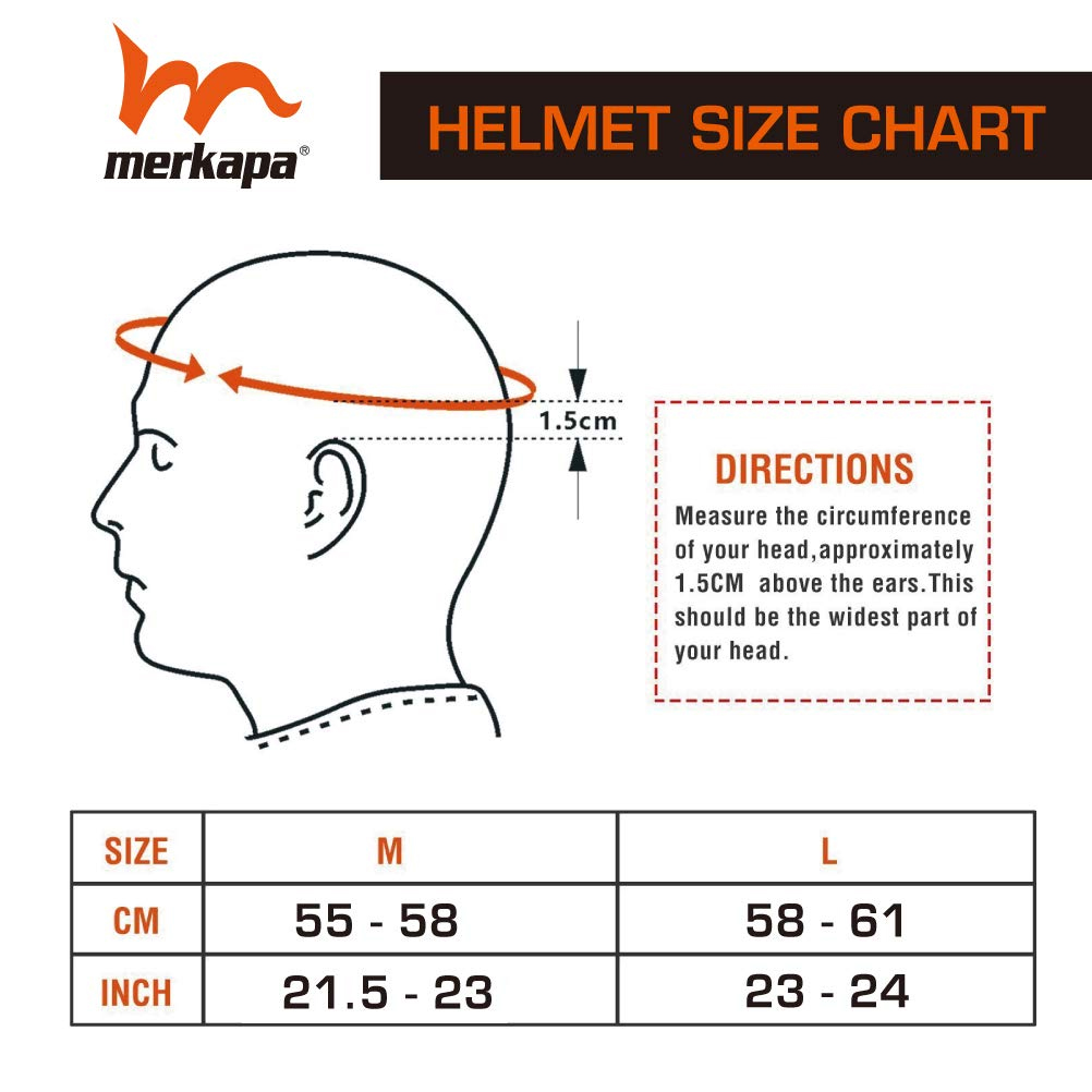 M Merkapa Bike Helmet Bicycle Helmet with Safe Taillight and Detachable Stick Visor, Suitable for Adult Men Women Boys Girls to Cycling Road Biking