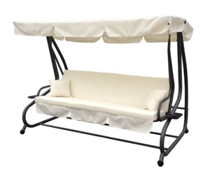 Multifunctional Iron Steel Frame Swing Chair With Two Pillows
