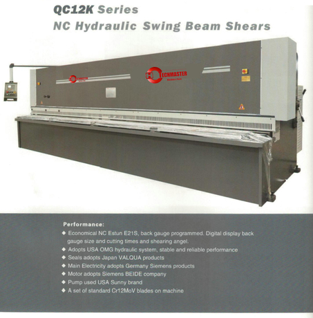 QC12K SERIES NC HYDRAULIC SWING BEAM SHEAR