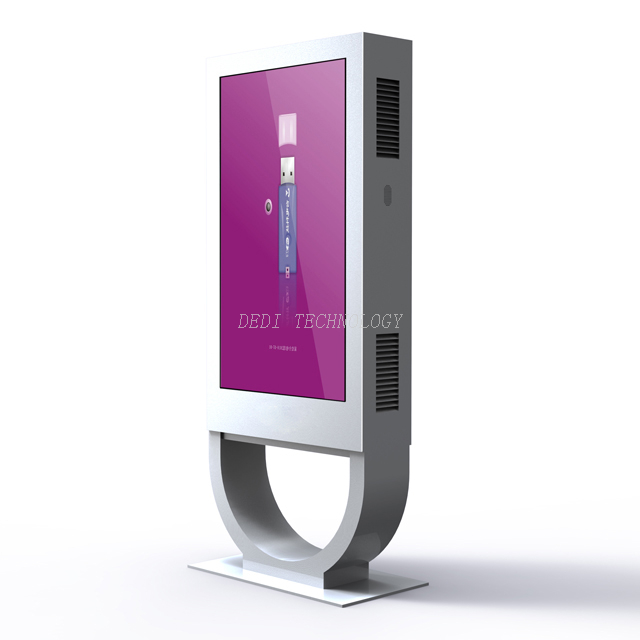 Vandal-proof IP55 43 inch LCD outdoor advertising display for public places