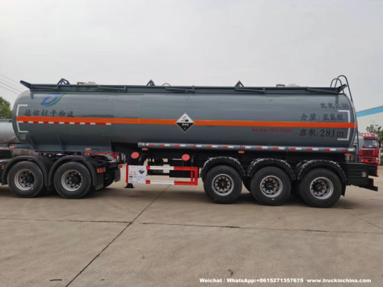 3 Axles Hydrochloric Acid Tanker 29500L HCl Tanks