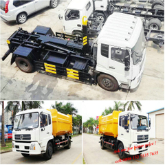 Dongfeng Hooklift Truck Garbage Container 14m3 Factory Sale
