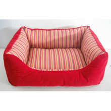 New Cute Red Pet Bed Basket Dog Lounger Beds