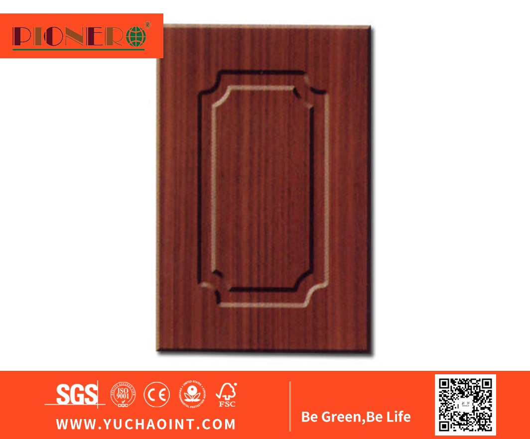 Experienced Custom Design Shaker Melamine Handle Kitchen Cabinet Doors