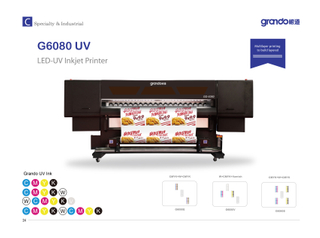 "G6080 UV 72"" Roll to Roll high speed printer with 6pc Ricoh print head"