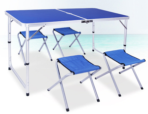 Foldable Picnic Table Set With Chairs