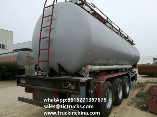 Stainless Steel Tank Trailer 45kl, 48, 000L for Diesel, Oil, Gasoline, Kerosene Transport with 3 Axles