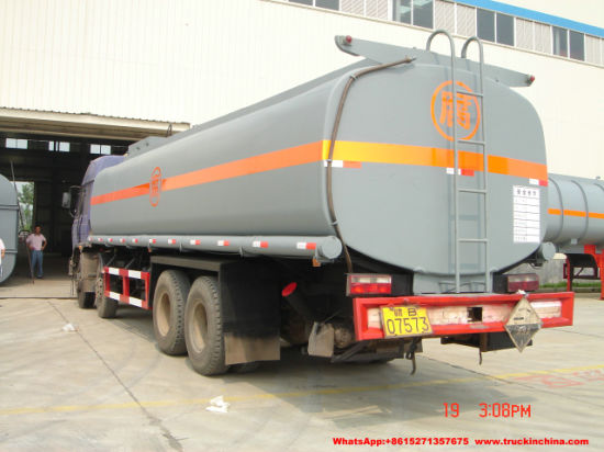 Dongfeng Chemical Tanker Truck Hydrochloric Acid Tank (16000 -25000Liters Steel Lined LLDPE Tank) for Chemical Factory Transport