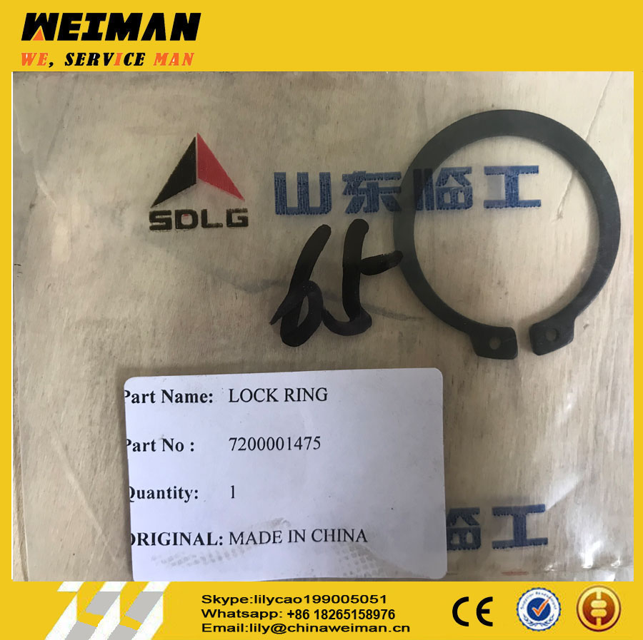 Sdlg LG958L 4WG200 Transmission Parts 0630501031 CLASP 7200001475 for Sale, 7200001497 LOCK RING 0630501024