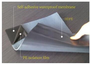 Building Waterproofing Material of Self Adhesive Roof Protect Bitumen Membrane