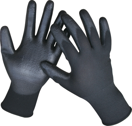 BLACK PU GLOVES