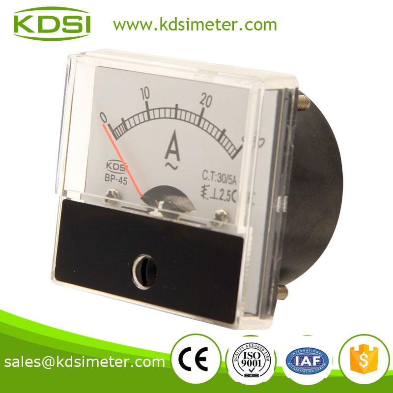 厂家直供 指针式交流电流表 bp-45 ac30/5a 方形冲床电流仪表
