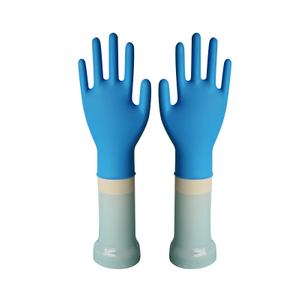 Powdered disposable latex free nitrile gloves in stock