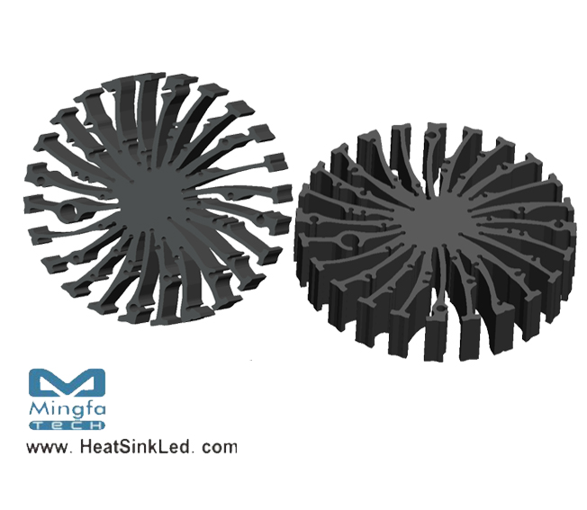 EtraLED-TRI-13020 for Tridonic Modular Passive LED Cooler Φ130mm