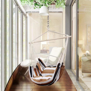 Garden Hammock Swing With Wooden Rod