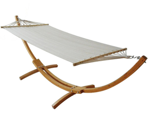 Arc Wooden Frame Cotton Hammock