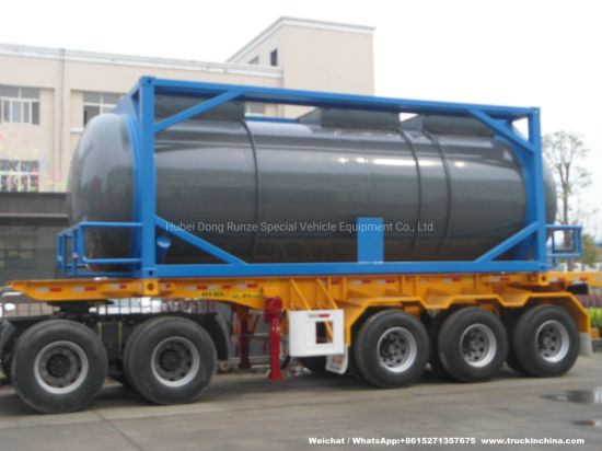 20FT Frame Swap Tank (Stainless Steel ISO Tank Container 25000Liters Yellow Phosphorus)