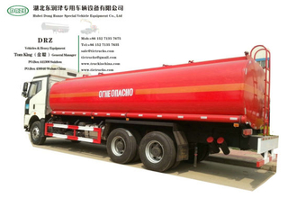 FAW Diesel Road Tanker Truck (24m3 Fuel Oil Bowser Refueling Truck with Oil Pumps Flowmeter Fuel Despenser for Fuel Express Door to Door Service)