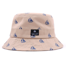 cotton flower bucket hat