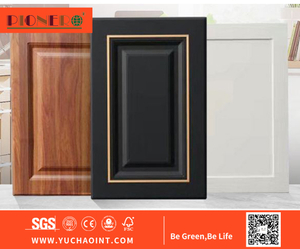 PVC Vinyl Wrapped Kitchen Cabinet Doors