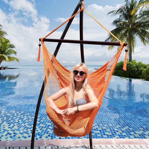 100% Cotton Garden Patio Hammock Chair